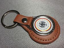 GERMAN INTELLIGENCE AGENCY `BND` Leather Key Rings In Black & tan