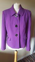 Debenhams Collection Smart Jacket Size 16 Purple