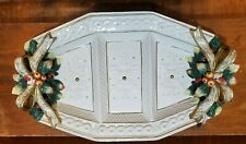 """Fitz and Floyd """"Snowy Woods"""" 3~Part Relish Tray ~ 18"""" ~ Excellent Condition"""
