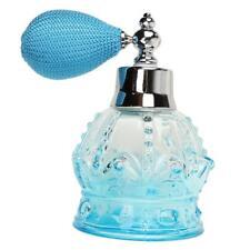 100ml Bouteille de Parfum Vide en Verre Rechargeable Flacon pour Voyage Bleu