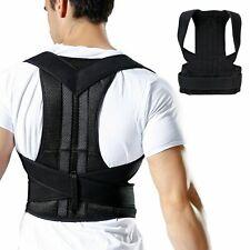 New Posture Corrector Shoulder Back Support Brace Band Adjustable Belt Health M