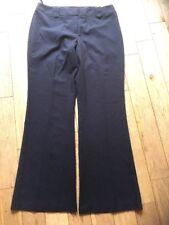 Ladies Size 12R Brown Stripe Trousers wide leg
