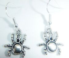 Tibetan Silver Spider Crab Earrings On Sterling Silver Hooks FREE Gift Bag Boho