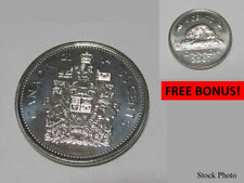 CANADA 2014 (50¢) FIFTY CENT PIECE, HALF DOLLAR, UNCIRCULATED + FREE UNC 2007 5¢