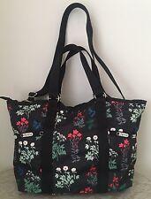 NWT LeSportsac small carryall crossbody bag Purse flowerbed multis black red $92