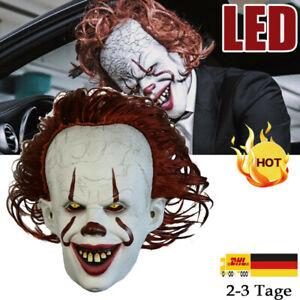 Latex Horror LED Maske Halloween Cosplay Clown Fasching Kostüme Clown Maske