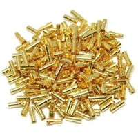 20/40/50 2mm Gold Bullet Connector Banana Plugs Male &Female for RC Car Battery