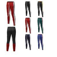 FashionOutfit Men's Side Panel Color Block Long Length Drawstring Ankle Zipper