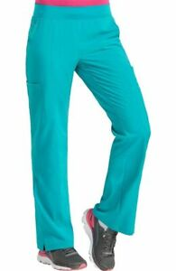 """Med Couture Scrubs Style #8744 Elastic Yoga Waist Scrub Pant in """"Teal"""", Size XL"""