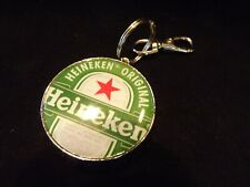 "Heineken Bottle Opener Key Ring with Clasp 4.5""x2"""