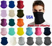 Neck Gaiter Snood Face Mask Covering Bandana Scarf Reusable Breathable Washable
