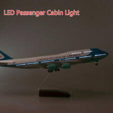 1/150 US Air Force One Airplane Model 47cm Plane w/ Undercarriage& Voice Lamp