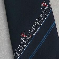 Ski santa cravate rétro vintage bleu marine noël nouveauté par tie rack 1980s 1990s