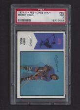 1974 OPC WHA #50 Bobby Hull, HOF, PSA 7 NM, Winnipeg Jets WHA Hockey 1974-75