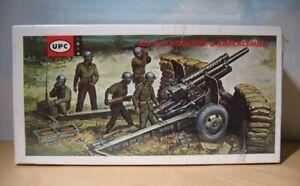 UPC Adams 5152  Gun Emplacement Model Kit  105mm Howitzer  1:40  1963   BIN