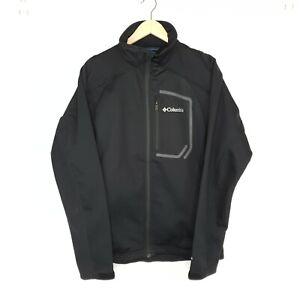 Columbia Women's Omni-Wind Block Water Resist Jacket Coat Black Softshell Size M