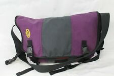 Timbuk2 Classic Messenger Bag Black and Purple, MADE IN USA, Used!