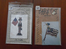 2 Patriotic Craft Woodworking Patterns - Uncle Sam & Tweet Land of Libirdie