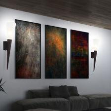 Lot de 2 rouille lampe LED couloir mur salon flamme lumière intérieure chambre