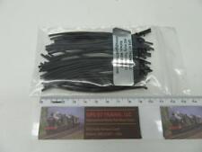 """GPS ST4 Black Heat Shrink Tube Diameter 1mm x 4"""" Length (Set of 50)"""