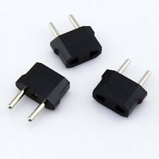 3x US/AU Universal to EU Euro Europe AC Power Plug Adaptor Travel 2pin Converter