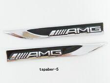 2Pcs New AMG Blade Fender Badge Car Body Side Skirts Sticker Emblem