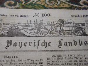 1840 Landbötin 100 / Aschaffenburg, Germania Augsburg Aukirchen Dillingen