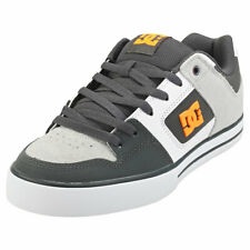 DC Shoes Pure Mens Grey Orange Leather & Synthetic Skate Trainers