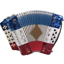 Rossetti 3412 34 Button 3 Switch 12 Bass GCF Sol Accordion - Red White Blue