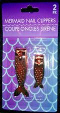 Rose Gold Color Mermaid Tail Scales Finger Toe Nail Clipper 2 Pc Set New In Pack