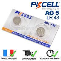2 PILES AG5 / SR754W / SR621 / LR754 / LR48 / 393 / 1,5V / ENVOI RAPIDE