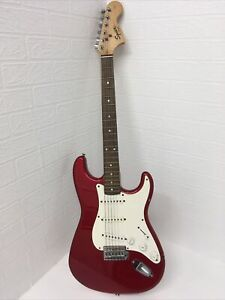 Squier By Fender Electric Guitar Stratocaster Affinity Series 4/4 Metallic Red