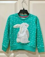 Jumping Jacks Bunny Rabbit Sweater 2T Toddler 2 Sweatshirt Pullover Turquoise