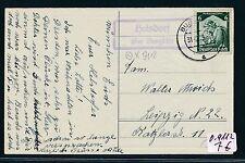 79965) PST II Stempel Burgstädt (Sachsen) Helsdorf über..Ra2 Karte 1935