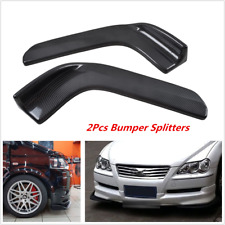 2x Universal Winglet Type Style Carbon Fiber Front Bumper Lip Diffuser Splitters