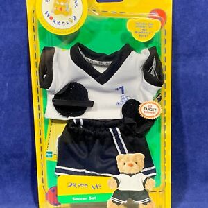 New SOCCER SET Build-A-Bear Workshop DRESS ME Mini Bear Outfit TARGET EXCLUSIVE