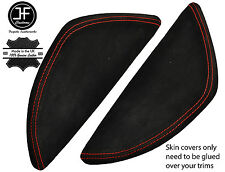 RED STITCH 2X  DASH END SIDE TRIM SUEDE COVERS FITS VW T5 TRANSPORTER 03-11