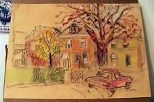 """PGH STREET"" by RUTH FREEMAN PASTEL 16 1/2"" X 23"""