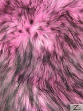 ARCTIC SHAGGY FAUX FUR FABRIC - Pink (LONG PILE) - SOLD BTY