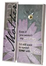 Wall or Desk Clock by Carson Home Accents--MOTHER-I'd spend time with you #12003