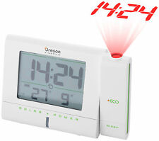OREGON SCIENTIFIC RM336 ECO SOLAR POWERED PROJECTION ALARM CLOCK RADIO CALENDAR