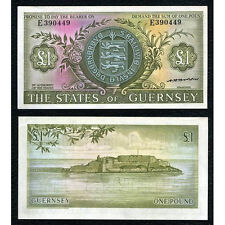 Guernsey P-45b ND(1969-75) 1 Pound Almost Uncirculated