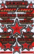 Rockstar Energy Motocross Racing Graphic stickers/decals. 1 sheet (st75)