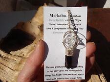 Merkaba-Clear Quartz-Black Onyx Pendulum-Divination-User Friendly-Incredible!