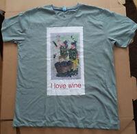 unikat-designtes t-shirt, i love wine, neu, ungetragen, gr. XL