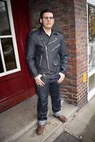 Jeansjacke Marlon Brando Raw Denim Rockabilly Jeans 50er Oldschool  Biker SALE !