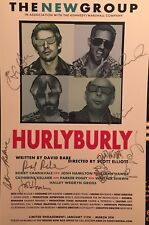 Ethan Hawke, Parker Posey ++ Signed HURLY BURLY Off Broadway Poster