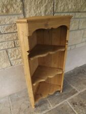 Pine wall corner unit, antique wax finish. UK DELIVERY INCLUDED IN PRICE.