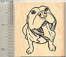 Staffordshire bull terrier Rubber Stamp G7518 Wm dog