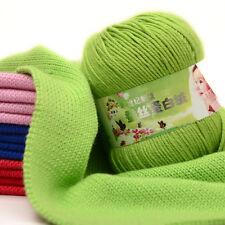 Wool Yarn Knitting Cashmere Modern baby soft Silk protein velvet Crochet 50g Hot